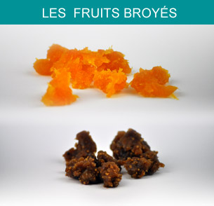 Fruits broyés